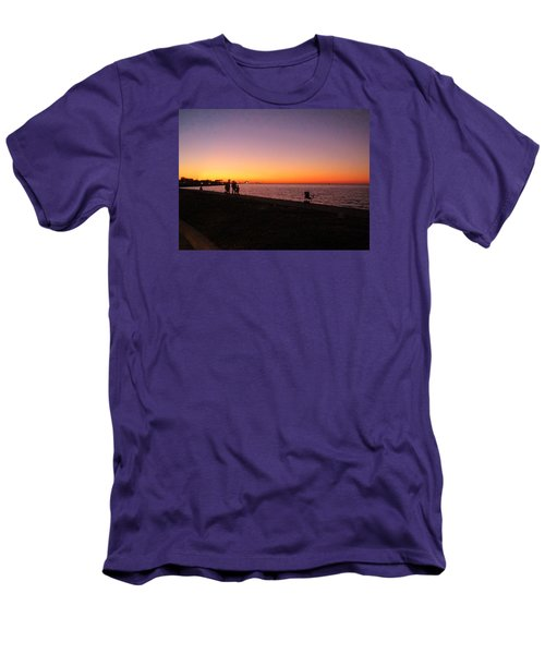 Lake Pontchartrain Sunset Men's T-Shirt (Athletic Fit)