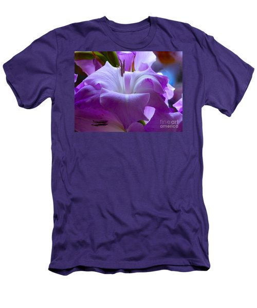 Lilac Flower Men's T-Shirt (Athletic Fit)