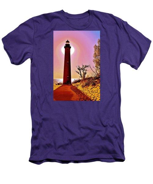 Little Sable Point Lighthouse Men's T-Shirt (Athletic Fit)