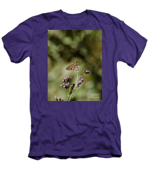 Long-winged Skipper Butterfly Men's T-Shirt (Athletic Fit)