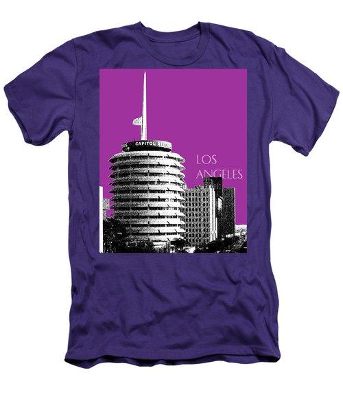 Los Angeles Skyline Capitol Records - Plum Men's T-Shirt (Athletic Fit)