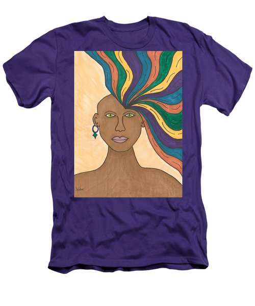 Men's T-Shirt (Slim Fit) featuring the painting Losing My Mind by Susie Weber