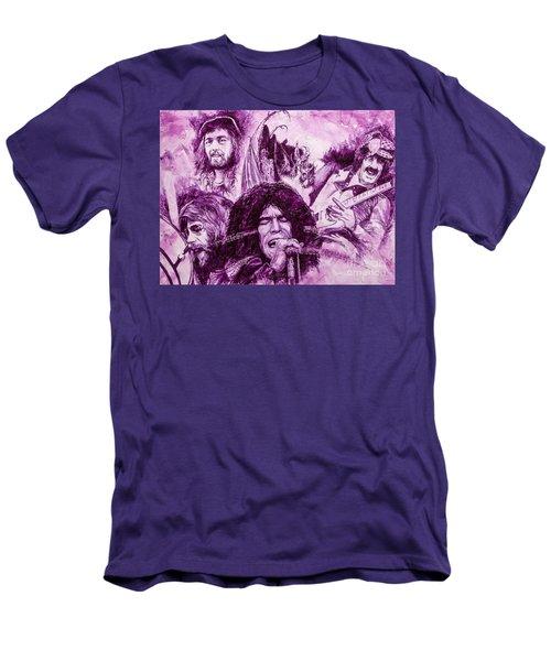 Men's T-Shirt (Slim Fit) featuring the painting Loud'n'proud by Igor Postash