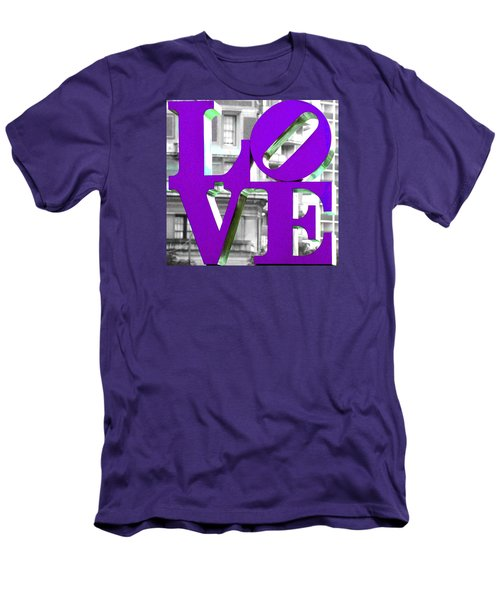 Love Philadelphia Purple Men's T-Shirt (Athletic Fit)