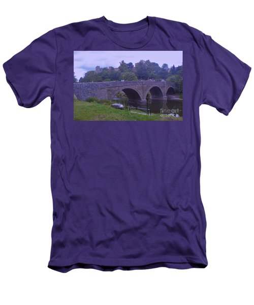 Men's T-Shirt (Slim Fit) featuring the photograph Ludlow Castle by John Williams