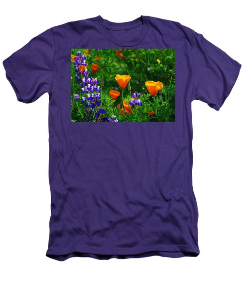 Lupines And Poppies Men's T-Shirt (Slim Fit) by Lynn Bauer