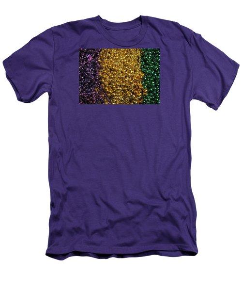 Mardi Gras Beads - New Orleans La Men's T-Shirt (Athletic Fit)