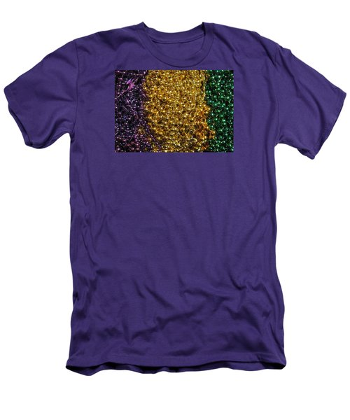 Mardi Gras Beads - New Orleans La Men's T-Shirt (Athletic Fit)