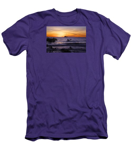 Mindil Beach Sunset Men's T-Shirt (Slim Fit) by Venetia Featherstone-Witty