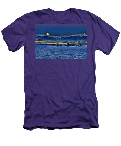 Moonset Over Cooney Men's T-Shirt (Athletic Fit)