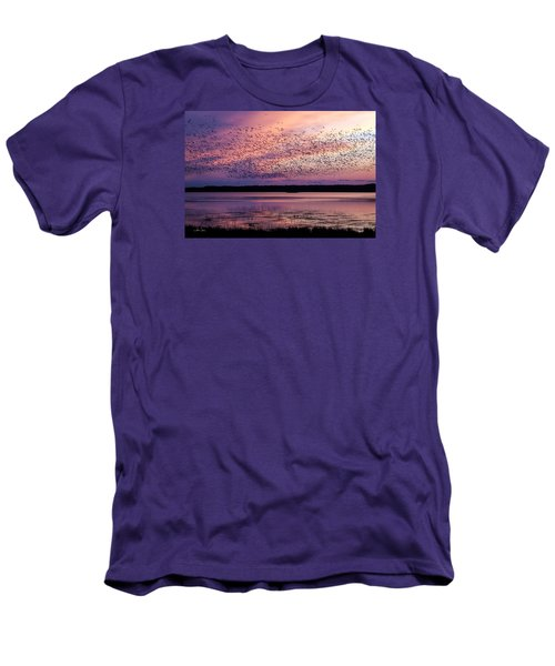 Men's T-Shirt (Slim Fit) featuring the photograph Morning Commute by Joan Davis