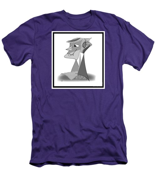Men's T-Shirt (Slim Fit) featuring the drawing My Picasso by Iris Gelbart