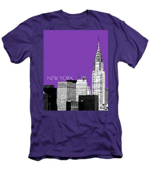 New York Skyline Chrysler Building - Purple Men's T-Shirt (Athletic Fit)