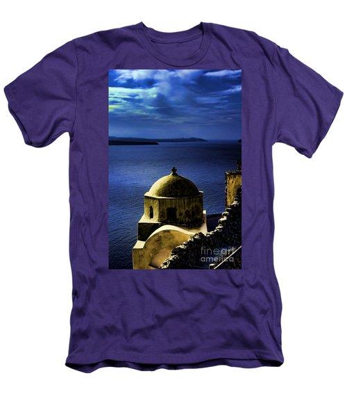 Oia Greece Men's T-Shirt (Slim Fit) by Tom Prendergast