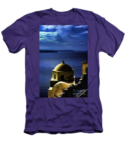 Oia Greece Men's T-Shirt (Athletic Fit)
