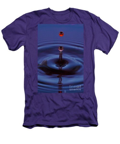 Men's T-Shirt (Slim Fit) featuring the photograph One Drop One Splash by Patrick Shupert