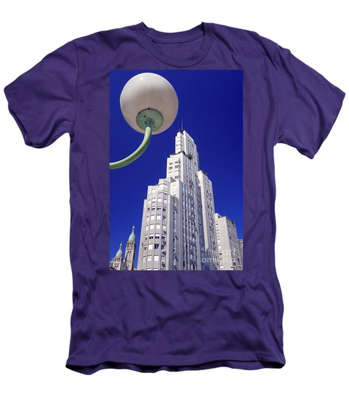 Men's T-Shirt (Slim Fit) featuring the photograph Onyric City by Bernardo Galmarini