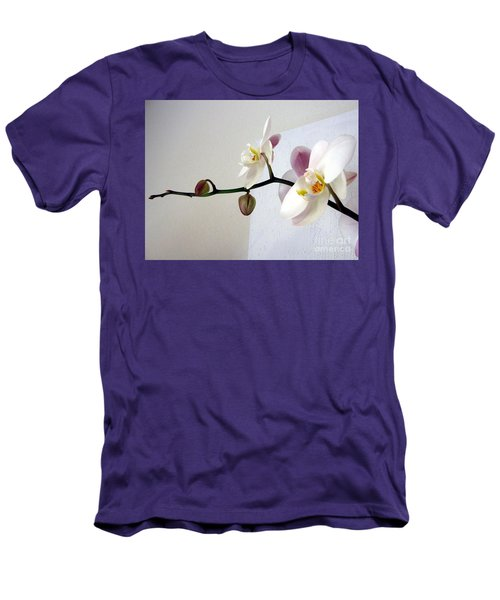 Orchid Coming Out Of Painting Men's T-Shirt (Slim Fit) by Barbara Yearty