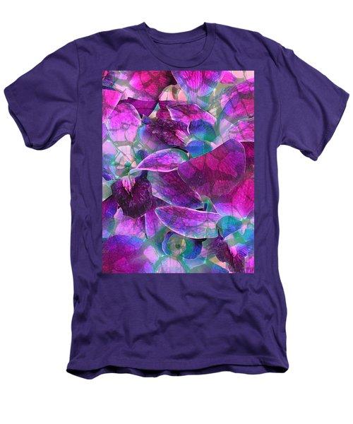 Men's T-Shirt (Slim Fit) featuring the photograph Orchid Splash by Diane Alexander