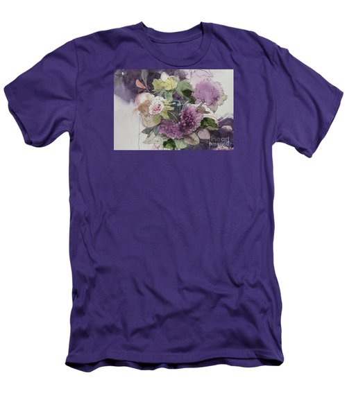 Passionate About Purple Men's T-Shirt (Slim Fit) by Elizabeth Carr