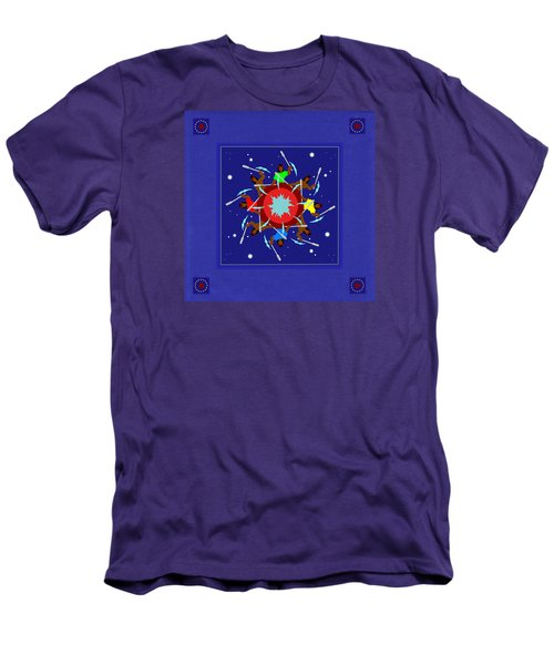 Men's T-Shirt (Slim Fit) featuring the photograph Peace Drum by I'ina Van Lawick