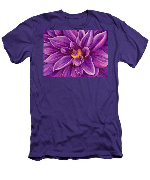 Pencil Dahlia Men's T-Shirt (Slim Fit) by Janice Dunbar
