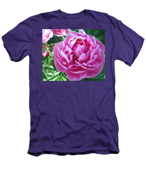 Pink Peony Men's T-Shirt (Slim Fit) by Barbara Griffin