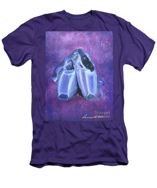 Men's T-Shirt (Slim Fit) featuring the painting Pointe Shoes by Laurianna Taylor