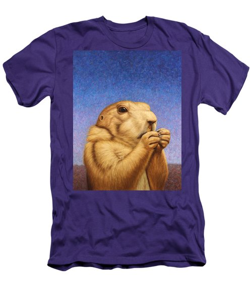 Men's T-Shirt (Slim Fit) featuring the painting Prairie Dog by James W Johnson