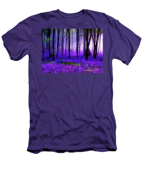 Purple Forest Men's T-Shirt (Athletic Fit)