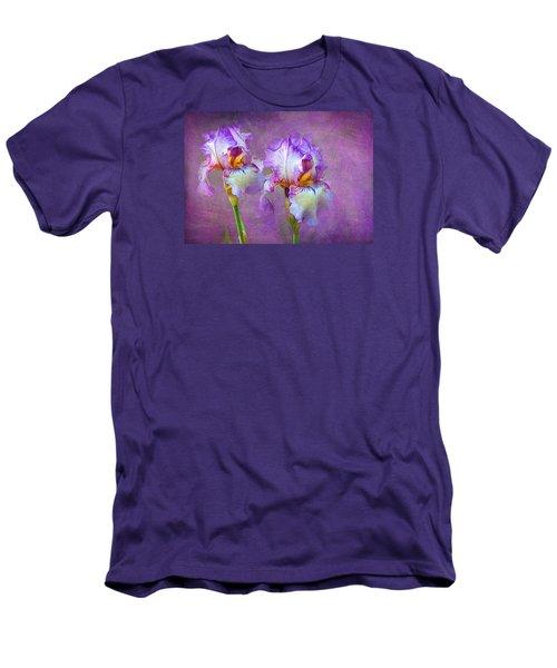 Purple Iris Men's T-Shirt (Slim Fit) by Lena Auxier