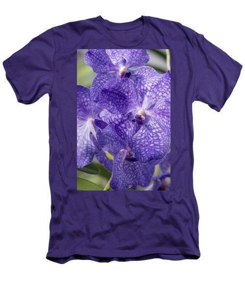 Purple Orchids Men's T-Shirt (Athletic Fit)