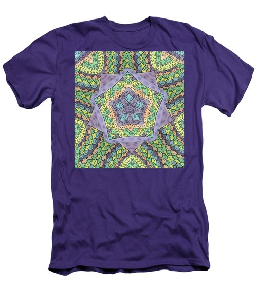 Men's T-Shirt (Slim Fit) featuring the painting Purple Passion by Susie WEBER