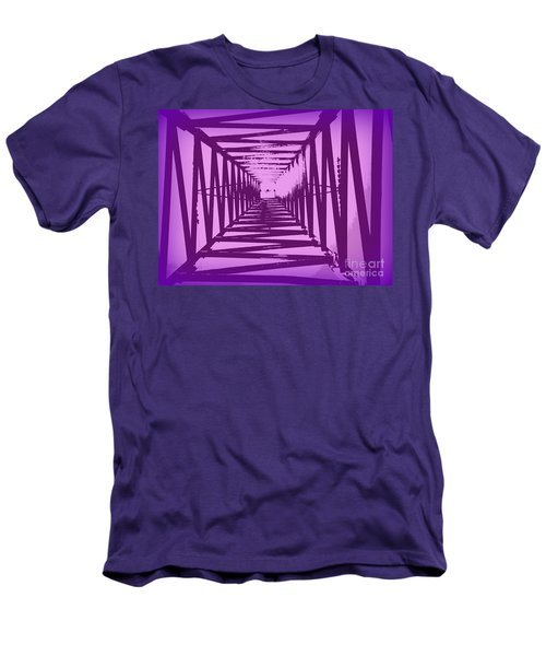 Men's T-Shirt (Slim Fit) featuring the photograph Purple Perspective by Clare Bevan