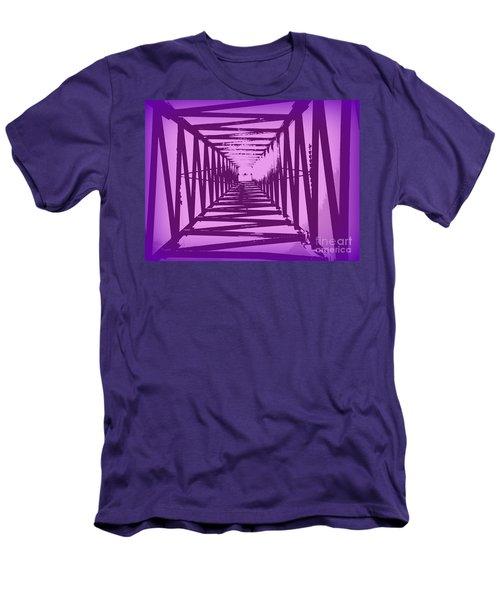 Purple Perspective Men's T-Shirt (Slim Fit) by Clare Bevan