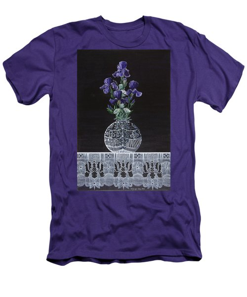 Queen Iris's Lace Men's T-Shirt (Athletic Fit)