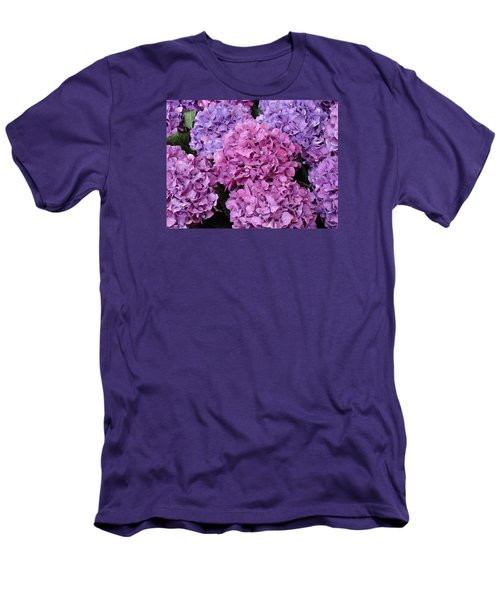 Men's T-Shirt (Slim Fit) featuring the photograph Rainy Day Flowers by Ira Shander