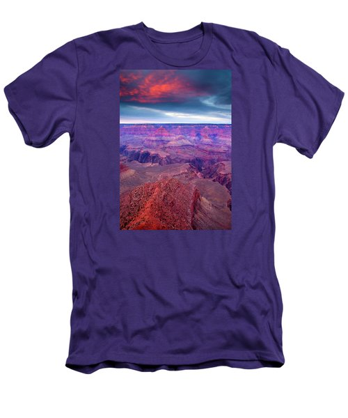Red Rock Dusk Men's T-Shirt (Slim Fit) by Mike  Dawson
