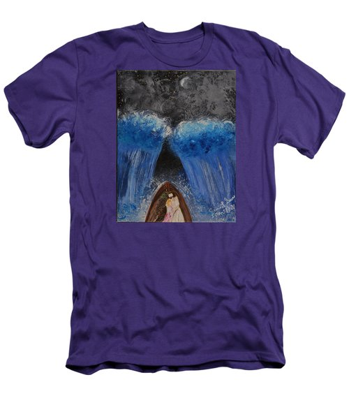 Men's T-Shirt (Slim Fit) featuring the painting Rest In Him by Cassie Sears