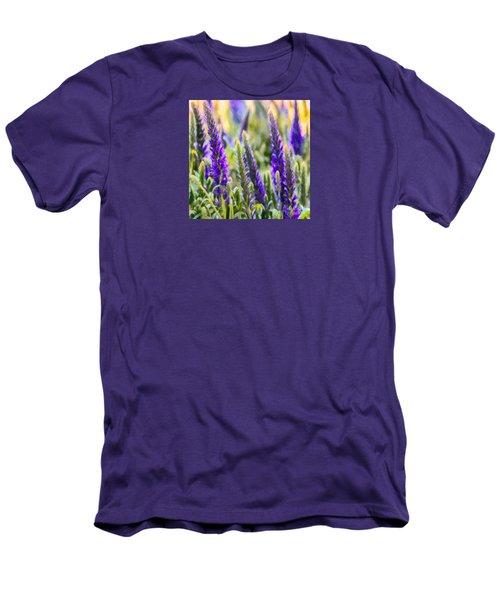 Salvia Sway Men's T-Shirt (Slim Fit) by Jean OKeeffe Macro Abundance Art