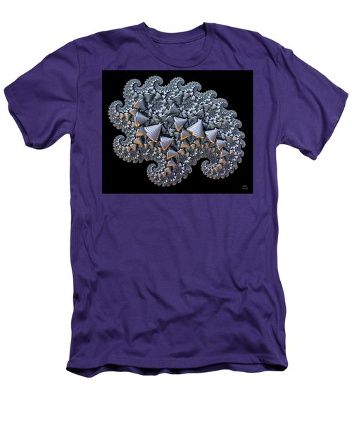 Men's T-Shirt (Slim Fit) featuring the digital art Shell Amoeba by Manny Lorenzo