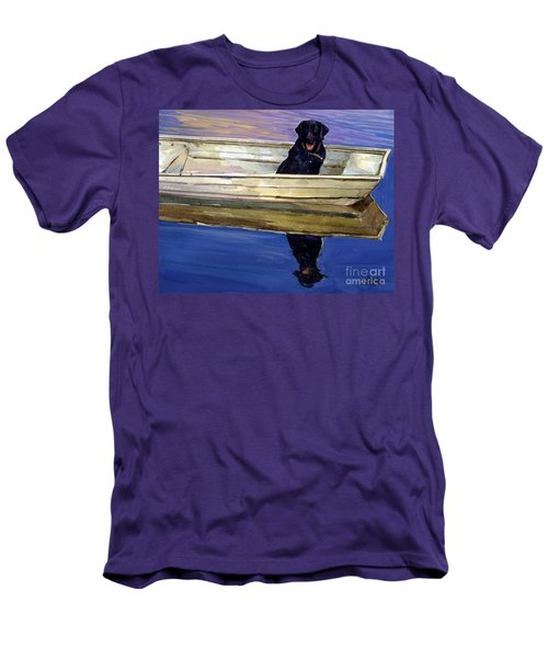 Slow Boat Men's T-Shirt (Slim Fit) by Molly Poole