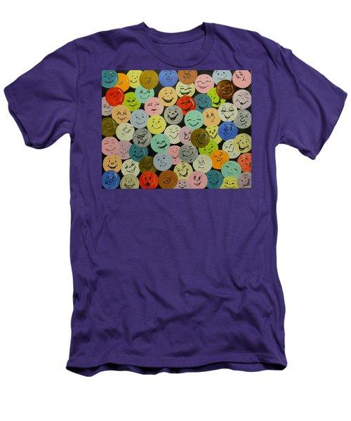 Smilies Men's T-Shirt (Slim Fit)