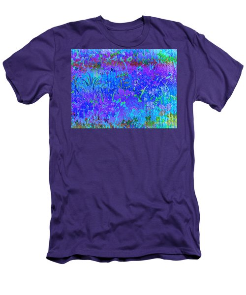 Men's T-Shirt (Slim Fit) featuring the photograph Soft Pastel Floral Abstract by Judy Palkimas