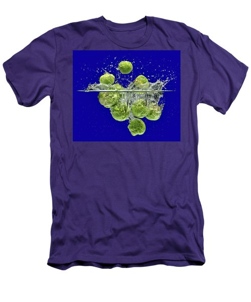 Splash-brussels Sprouts Men's T-Shirt (Athletic Fit)