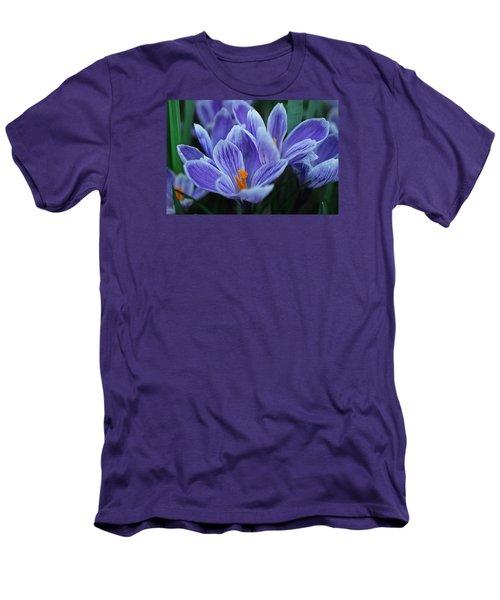 Spring Crocus Men's T-Shirt (Slim Fit) by Julie Andel