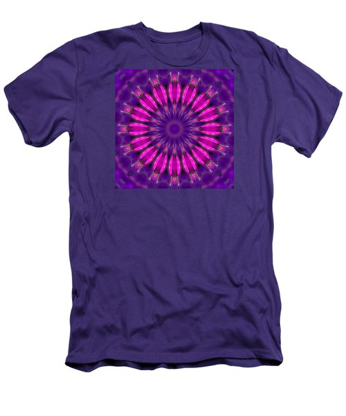 Men's T-Shirt (Slim Fit) featuring the photograph Study In Pink And Purple by I'ina Van Lawick