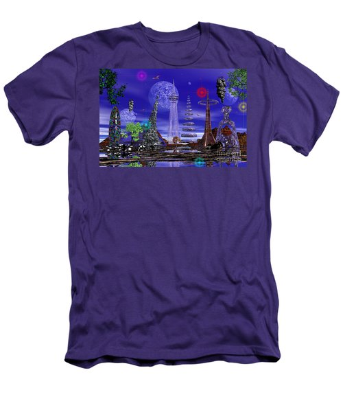 Men's T-Shirt (Slim Fit) featuring the photograph The Lakes Of Zorg by Mark Blauhoefer