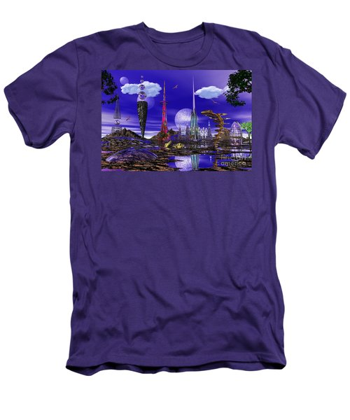 Men's T-Shirt (Slim Fit) featuring the photograph The Palace Of Prax by Mark Blauhoefer