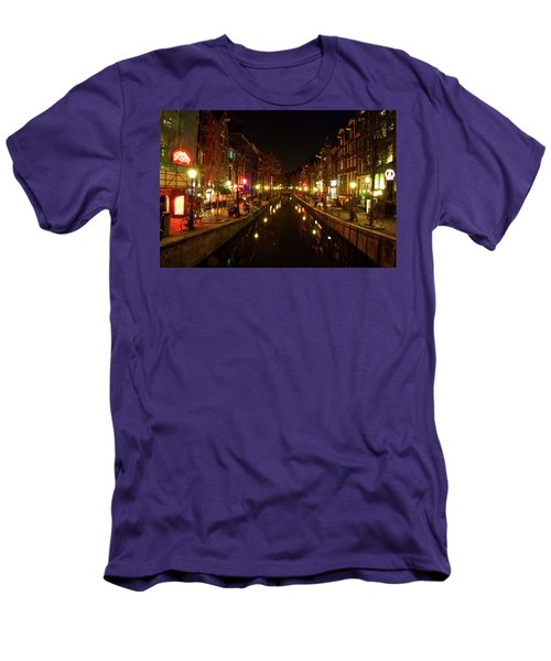 The Red Lights Of Amsterdam Men's T-Shirt (Athletic Fit)